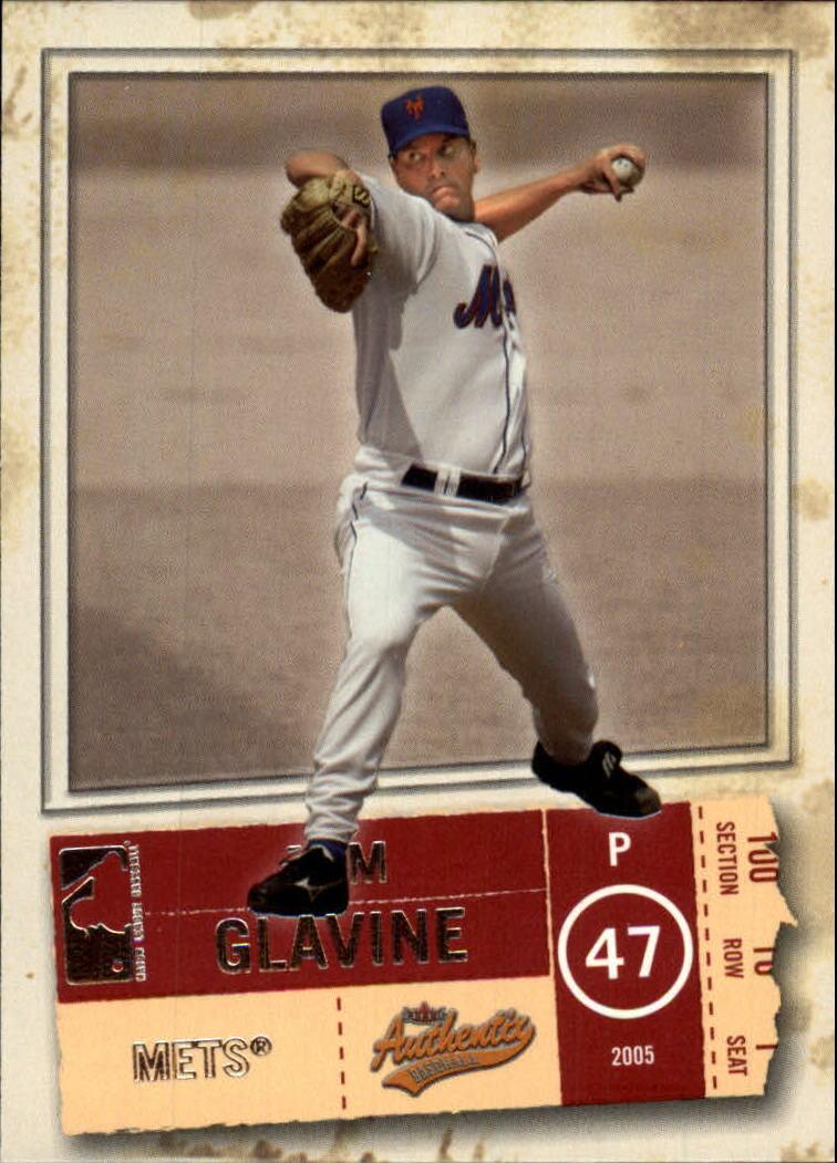 2005 Fleer Authentix #88 Tom Glavine