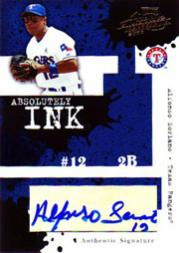 2005 Absolute Memorabilia Absolutely Ink #AI103 Alfonso Soriano/67