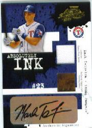 2005 Absolute Memorabilia Absolutely Ink Swatch Double #AI23 Mark Teixeira FG-J/50