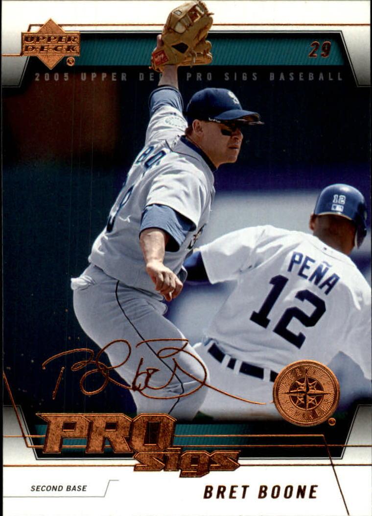 2005 Upper Deck Pro Sigs #77 Bret Boone