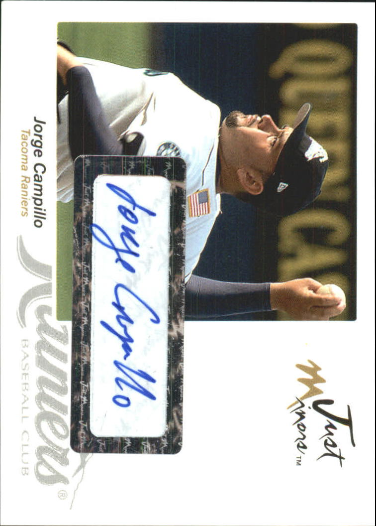 2005 Just Autographs Signatures #9 Jorge Campillo/825 *