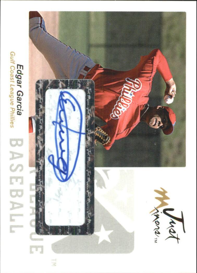 2005 Just Autographs Signatures #23 Edgar Garcia/825 *