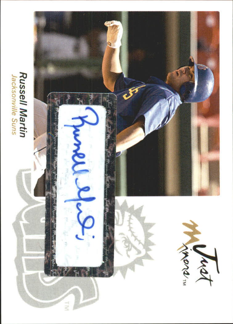2005 Just Autographs Signatures #45 Russell Martin/150 *