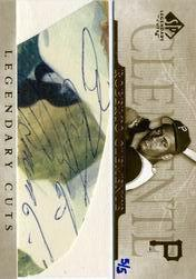 2005 SP Legendary Cuts Autograph Cuts #RC Roberto Clemente/5