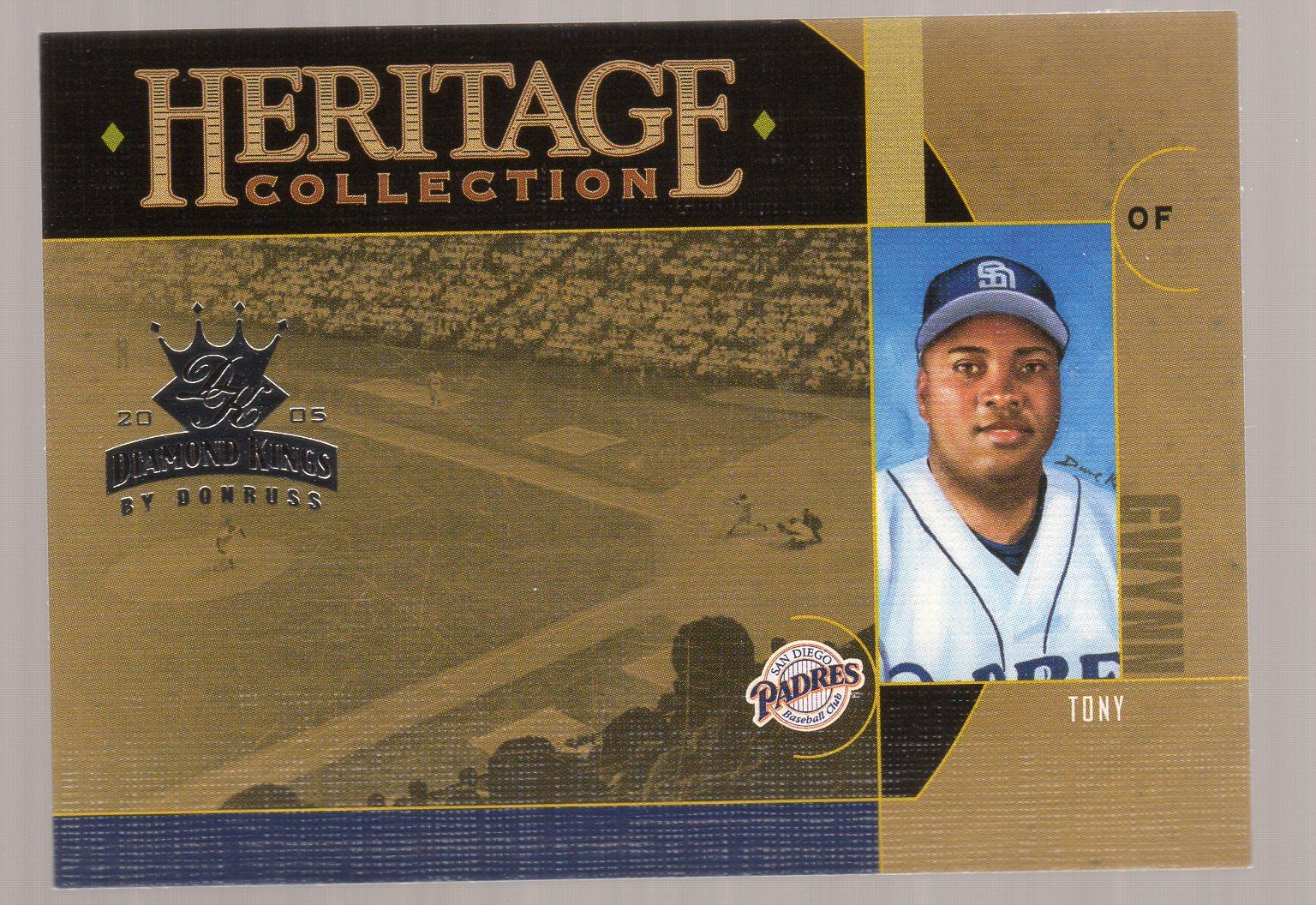 2005 Diamond Kings Heritage Collection #HC25 Tony Gwynn