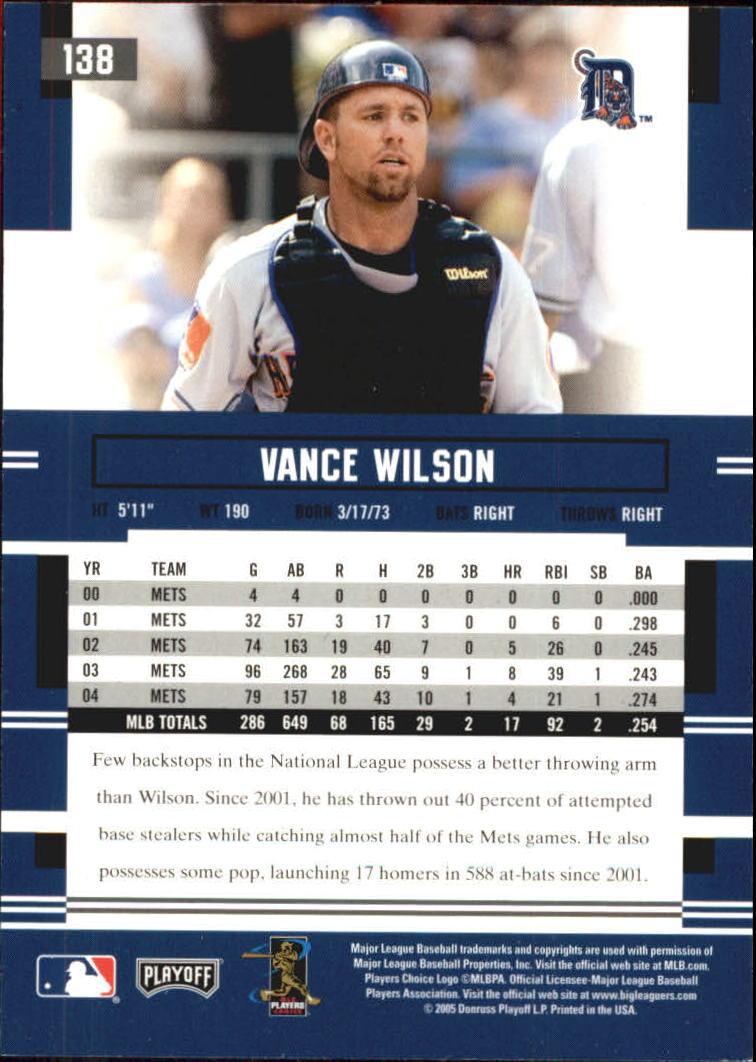 2005 Playoff Prestige Autographs #138 Vance Wilson