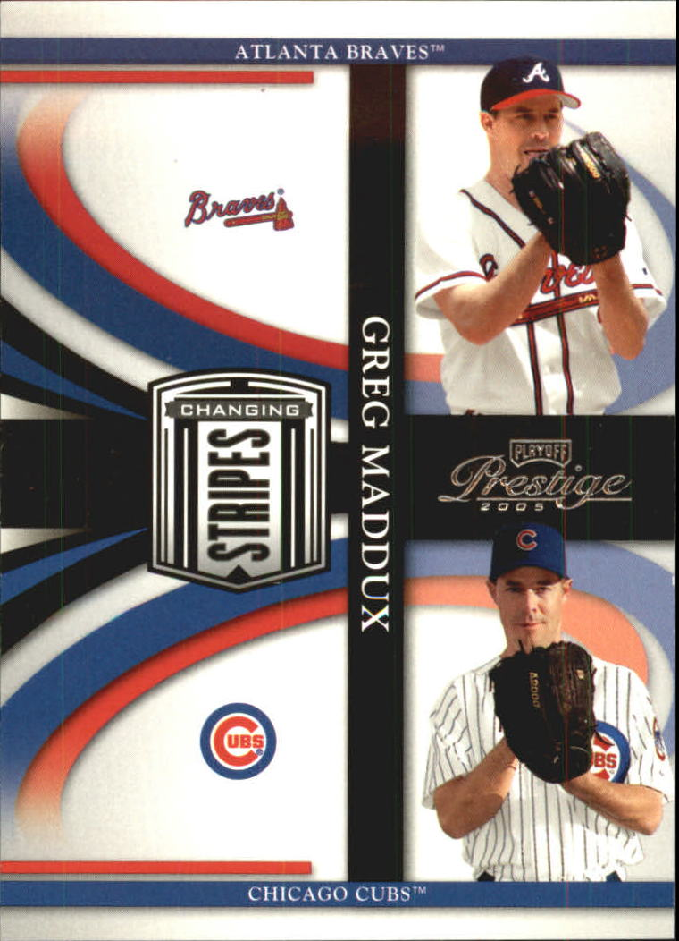 2005 Playoff Prestige Changing Stripes #5 Greg Maddux Braves-Cubs