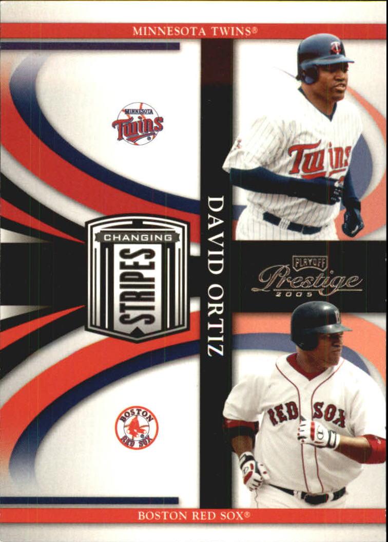 2005 Playoff Prestige Changing Stripes #19 David Ortiz Twins-Sox