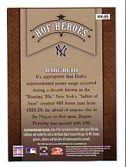 2005 Diamond Kings HOF Heroes #65 Babe Ruth back image