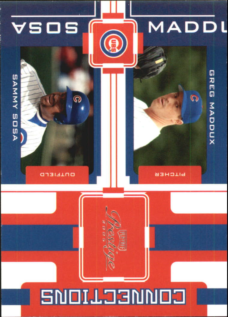2005 Playoff Prestige Connections #9 G.Maddux/S.Sosa
