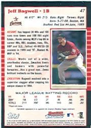 2005 Bowman Chrome #47 Jeff Bagwell back image