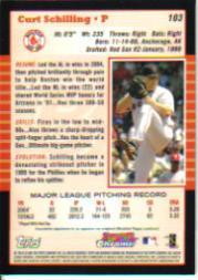 2005 Bowman Chrome #103 Curt Schilling back image