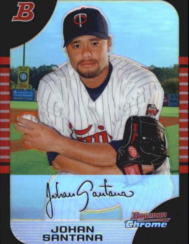 2005 Bowman Chrome Refractors #127 Johan Santana
