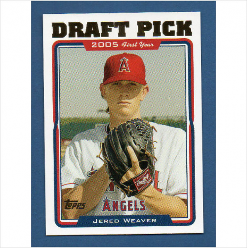 2005 Topps Update #312 Jered Weaver DP RC