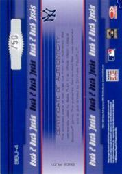2005 Donruss Elite Back 2 Back Jacks #4 Babe Ruth/50 back image