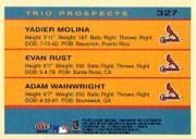 2005 Fleer Tradition #327 Molina/Rust/Wainwright TP back image