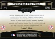 2005 Playoff Prestige Prestigious Pros Blue #2 Derek Jeter back image