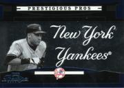 2005 Playoff Prestige Prestigious Pros Blue #2 Derek Jeter