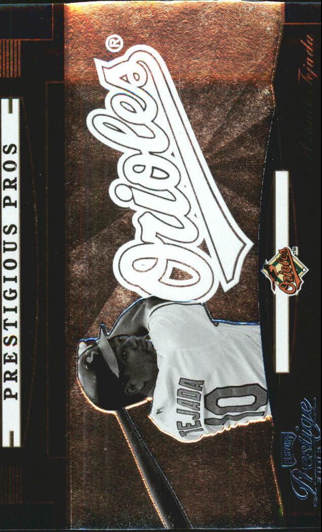 2005 Playoff Prestige Prestigious Pros Blue #10 Miguel Tejada