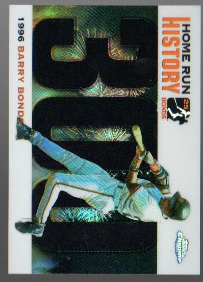 2005 Topps Chrome Update Barry Bonds Home Run History Black Refractors #300 Barry Bonds