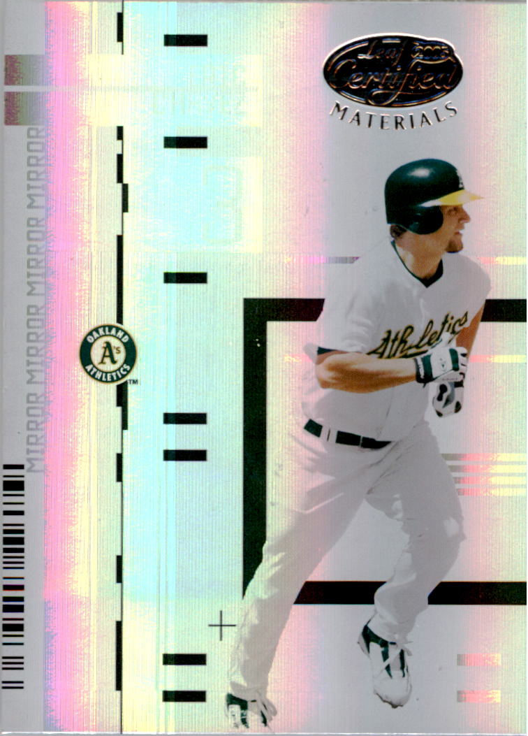 2005 Leaf Certified Materials Mirror White #41 Eric Chavez