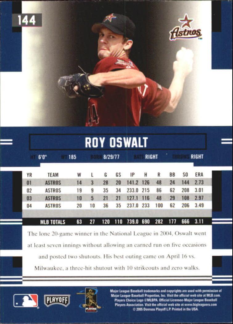 2005 Playoff Prestige #144 Roy Oswalt back image