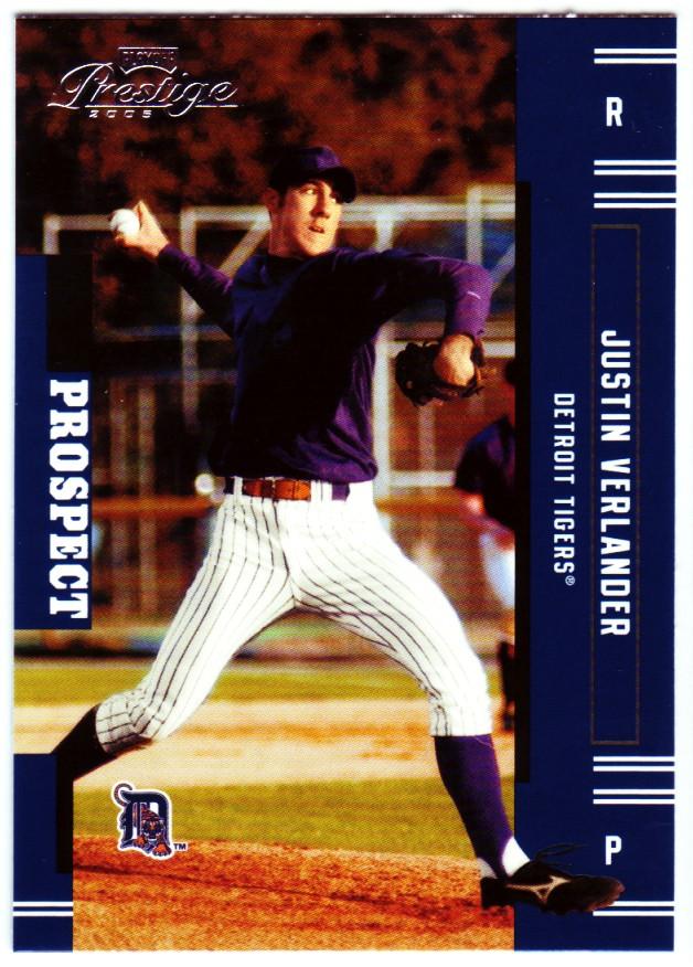 2005 Playoff Prestige #151 Justin Verlander RC
