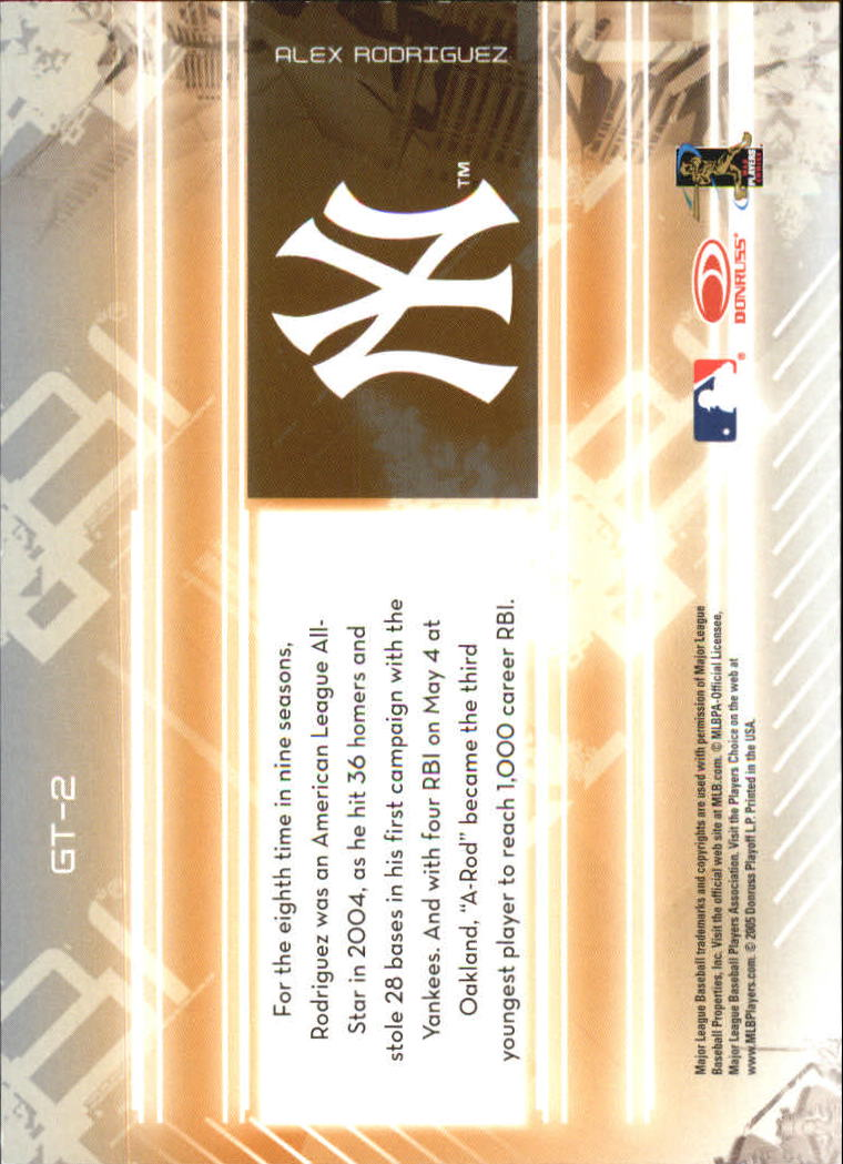 2005 Leaf Certified Materials Gold Team #2 Alex Rodriguez back image