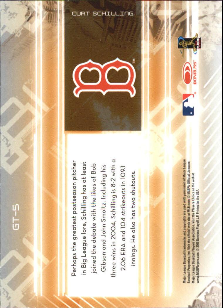 2005 Leaf Certified Materials Gold Team #5 Curt Schilling back image