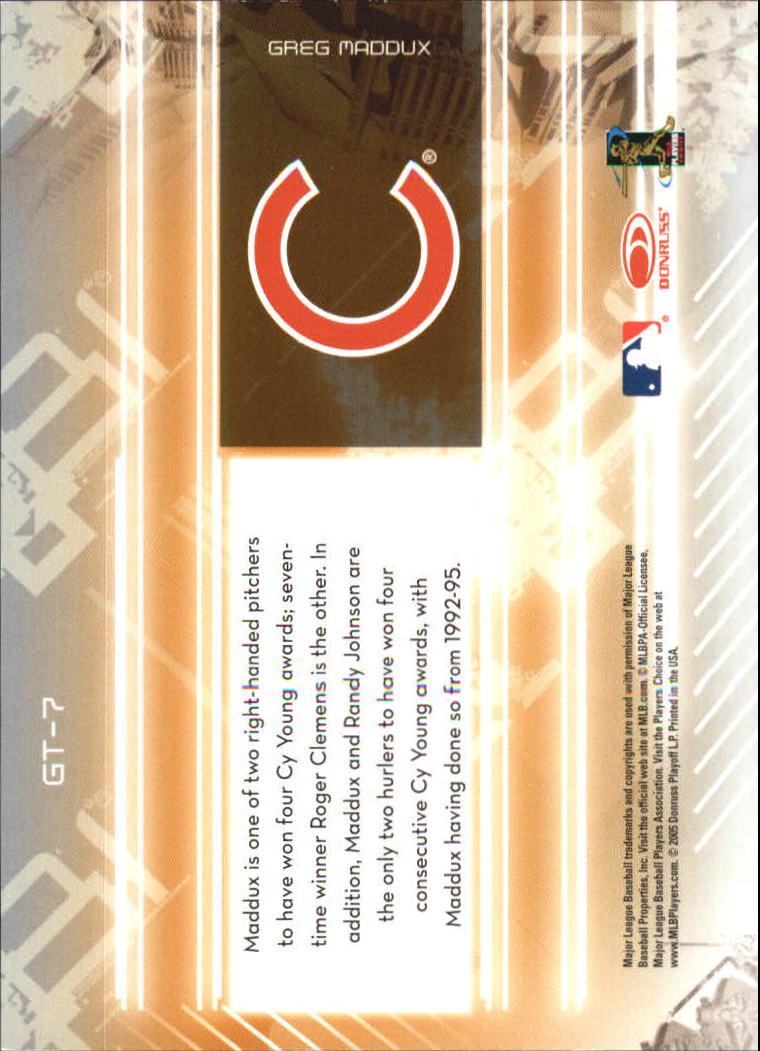 2005 Leaf Certified Materials Gold Team #7 Greg Maddux back image