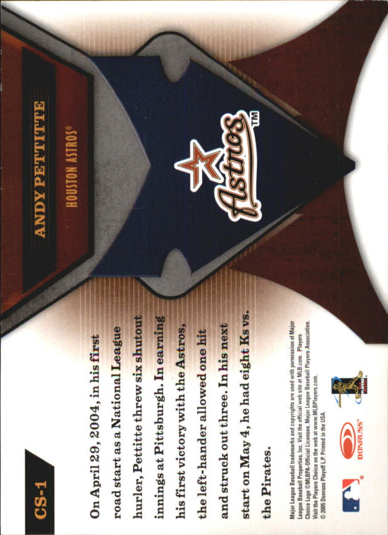 2005 Leaf Certified Materials Skills #1 Andy Pettitte back image