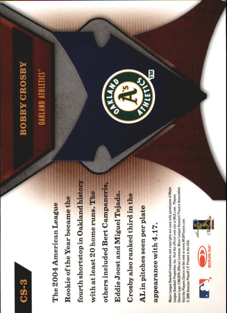 2005 Leaf Certified Materials Skills #3 Bobby Crosby back image