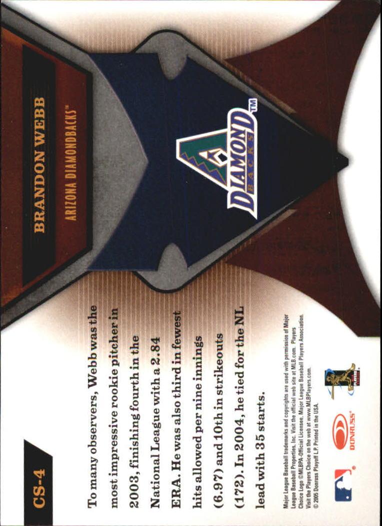 2005 Leaf Certified Materials Skills #4 Brandon Webb back image