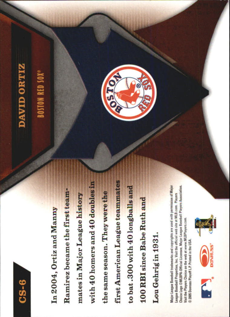 2005 Leaf Certified Materials Skills #6 David Ortiz back image