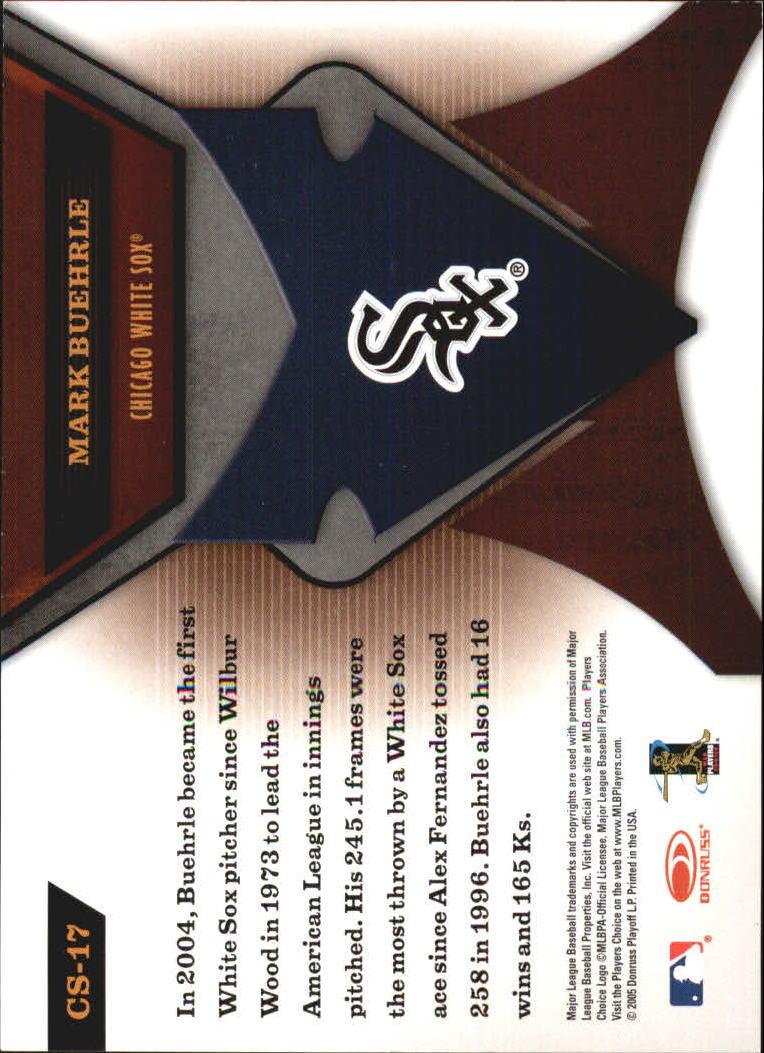 2005 Leaf Certified Materials Skills #17 Mark Buehrle back image