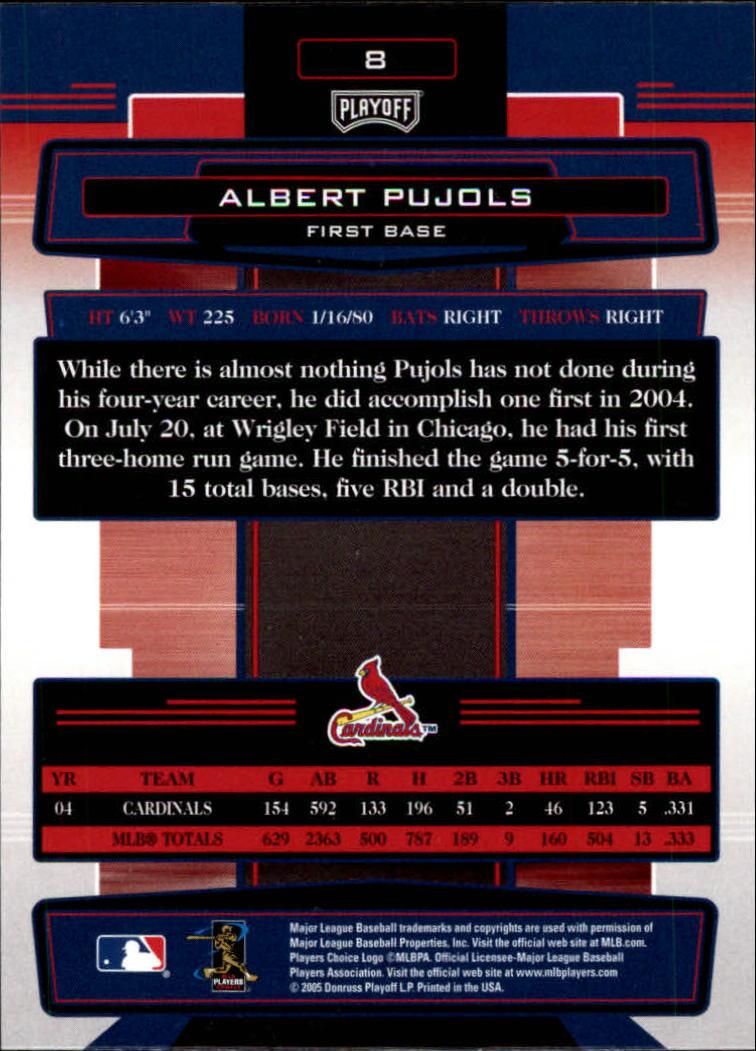 2005 Absolute Memorabilia #8 Albert Pujols back image