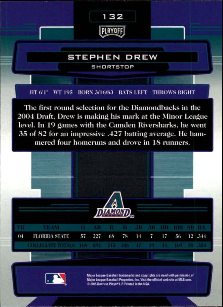 2005 Absolute Memorabilia #132 Stephen Drew RC back image