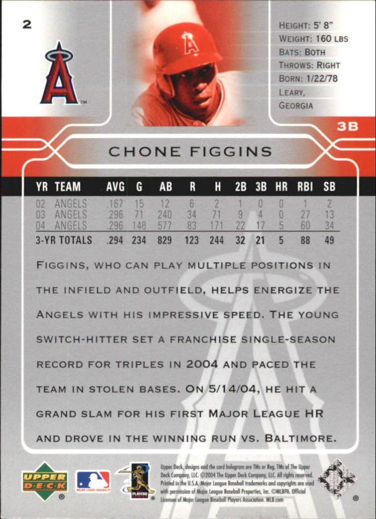 2005 Upper Deck #2 Chone Figgins back image