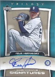 2005 Upper Deck Trilogy Generations Future Signatures Bronze #FH Felix Hernandez