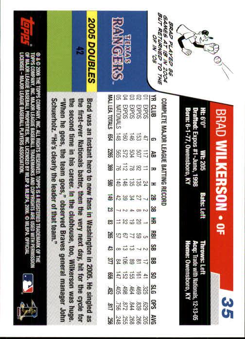 2006 Topps #35 Brad Wilkerson back image