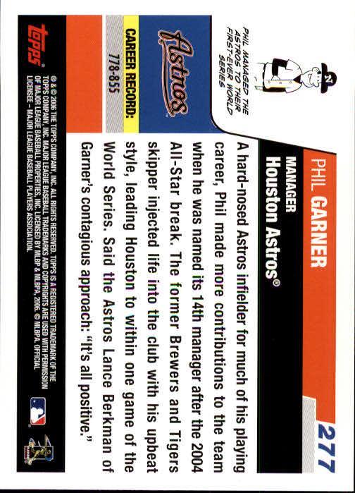2006 Topps #277 Phil Garner MG back image