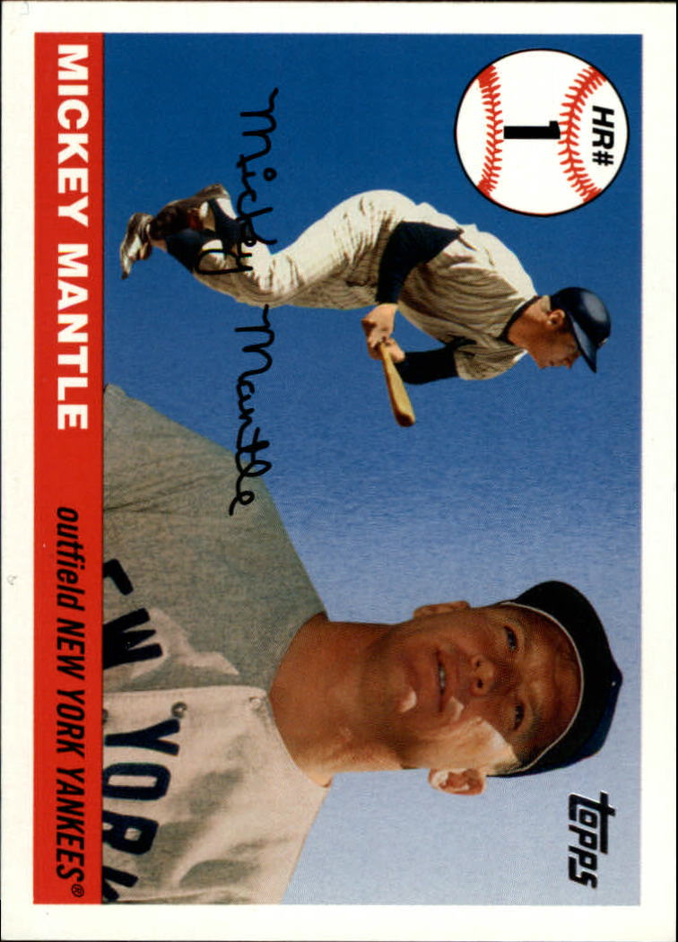 2006 Topps Mantle Home Run History #1 Mickey Mantle
