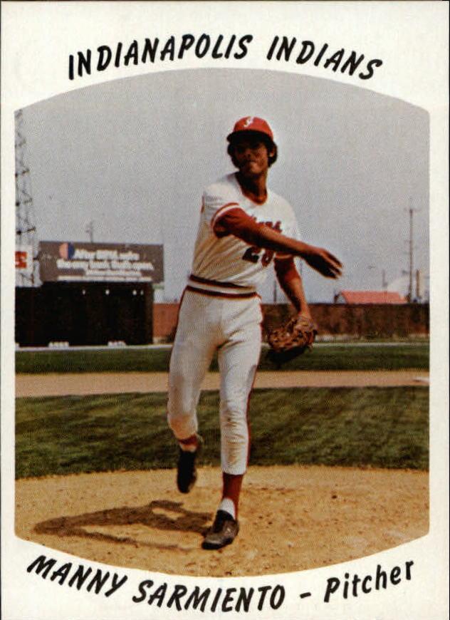 1977 Indianapolis Indians Team Issue #25 Manny Sarmiento