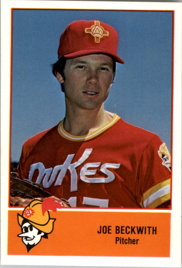 1978 Albuquerque Dukes Cramer #1 Joe Beckwith