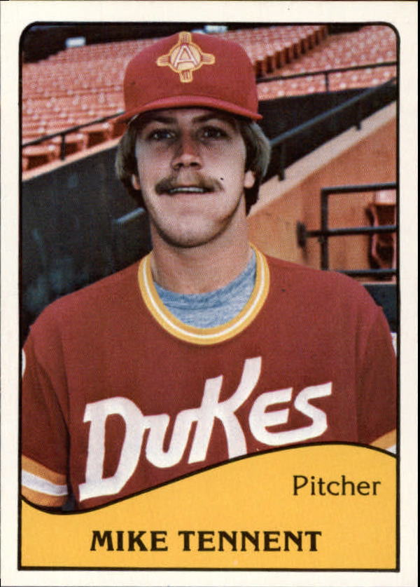 1979 Albuquerque Dukes TCMA #2 Mike Tennent