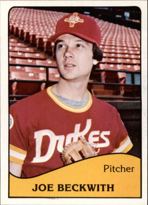 1979 Albuquerque Dukes TCMA #20 Joe Beckwith
