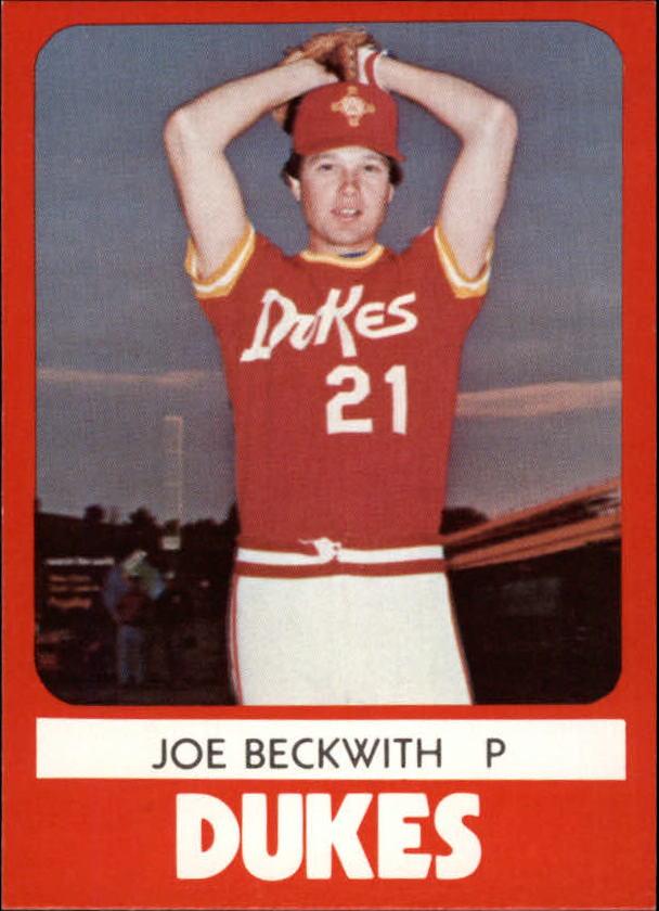 1980 Albuquerque Dukes TCMA #2 Joe Beckwith
