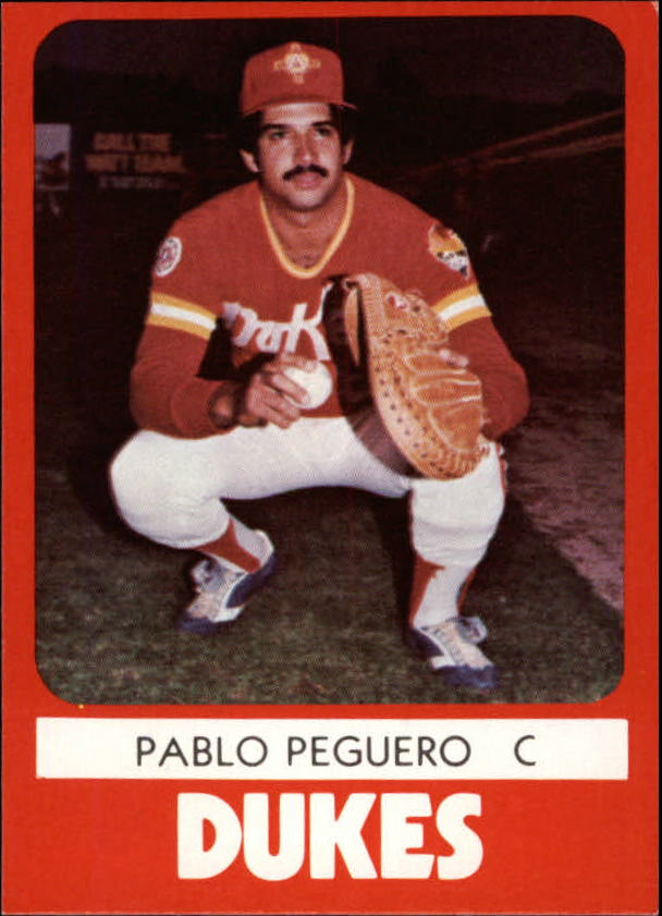 1980 Albuquerque Dukes TCMA #3 Pablo Peguero