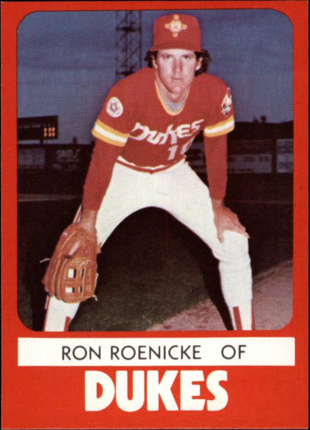 1980 Albuquerque Dukes TCMA #6 Ron Roenicke