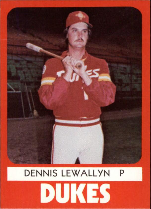 1980 Albuquerque Dukes TCMA #8 Dennis Lewallyn